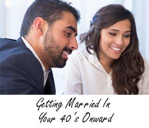 Getting Married In Your 40's Onward